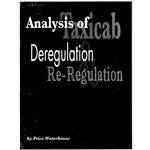 ANALYSIS OF TAXICAB DEREGULATION AND RE-REGULATION